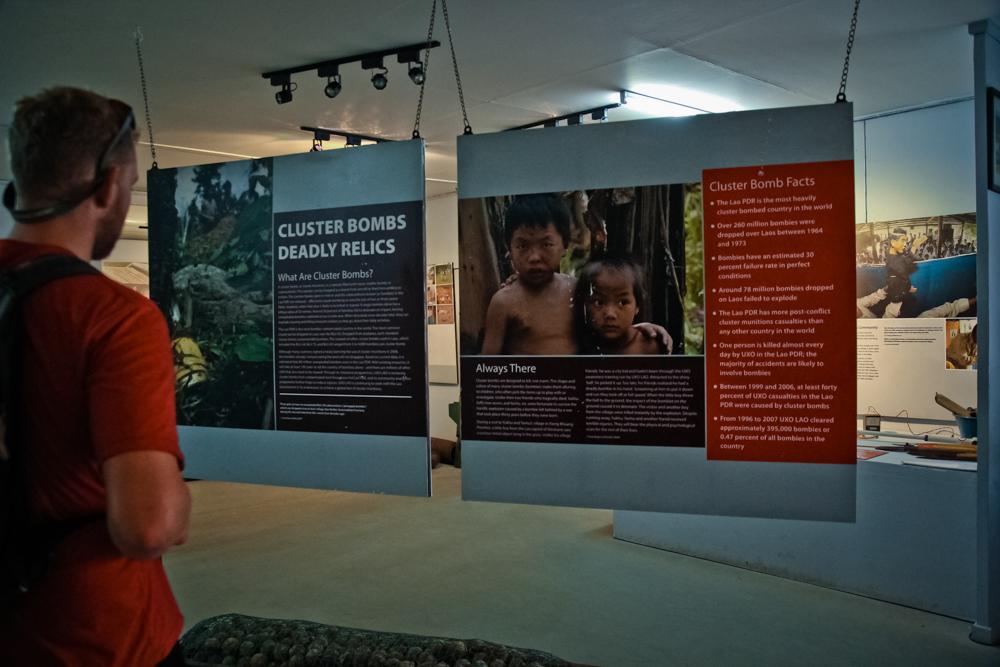 Фотографии из музея UXO. Лаос. Луанг-Прабанг