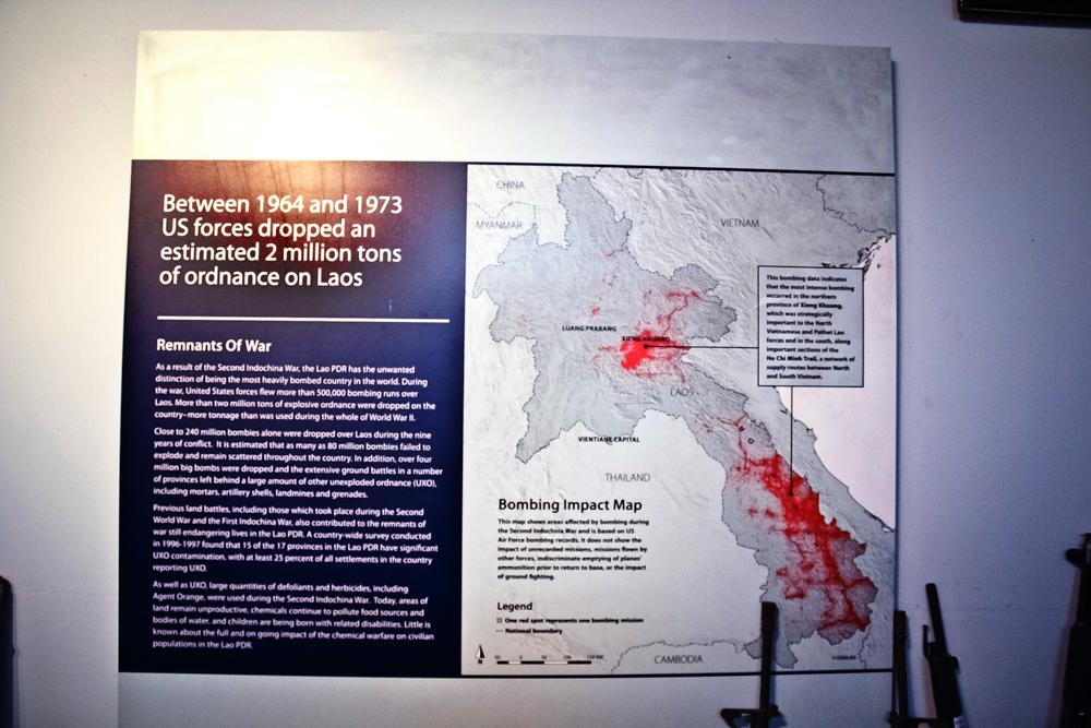 Карта сброшенных бомб