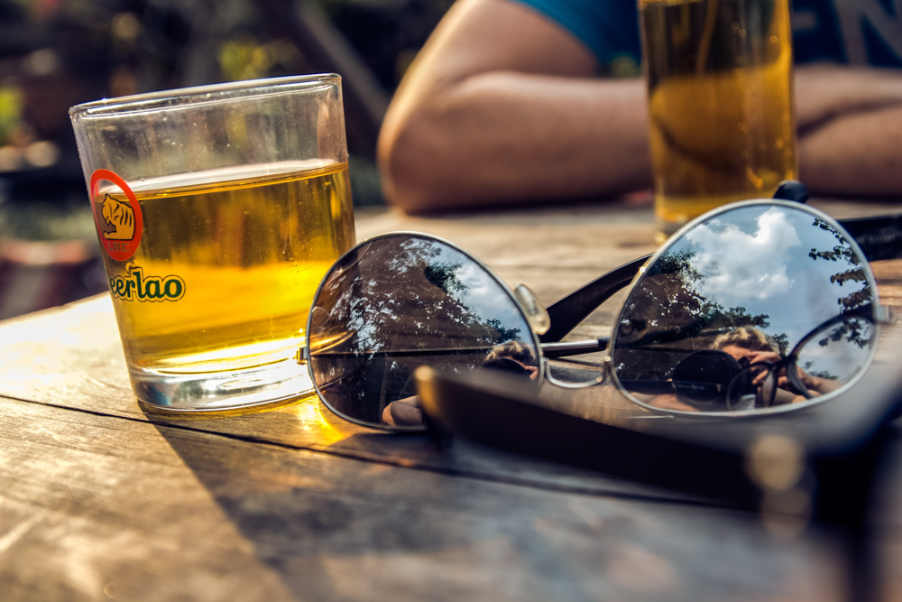 lao beer in lao bar