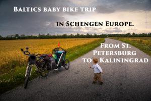 Baby bike trip
